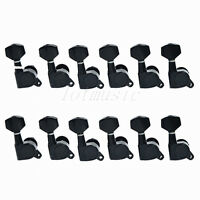 12 Pcs Right Guitar String Tuning Pegs Tuners Machine Heads Black