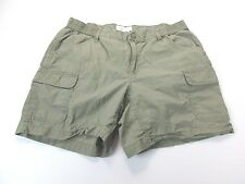 *COLUMBIA* SIZE 6 WOMEN'S GREEN 100% COTTON SHORTS WITH MANY POCKETS