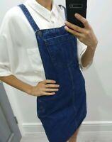 Topshop denim blue pinafore dress size UK 10
