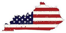 Kentucky State (J18) USA Flag Distressed Vinyl Decal Sticker Car/Truck Laptop