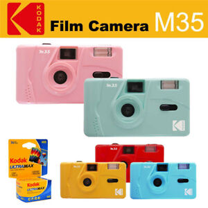 Kodak Vintage retro M35 35mm Reusable Flash Film Camera+ Kodak UltraMax 400 Film