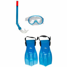 Divers Kids Mask and Snorkel SET DIVE Snorkelling - RRP £30 - BLUE UK