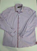 Coogi Luxe Men's Button Down Dress Shirt Purple Size XL