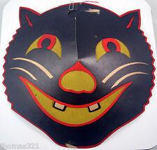 Vintage Halloween Beistle Diecut Decoration Cat Lantern Face 1940s Very Rare