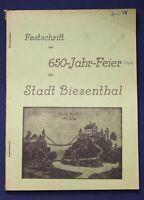 Festschrift zur 650-Jahr-Feier der Stadt Biesenthal 1965 Barnim Ortskunde js