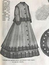 MODE ILLUSTREE SEWING PATTERN May 26,1867 - WALKING DRESS