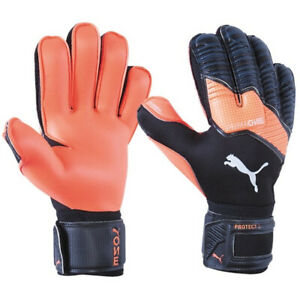 PUMA Men's One Protect 2 RC Goalkeeper Gloves Black/Energy Red/White 041633 01