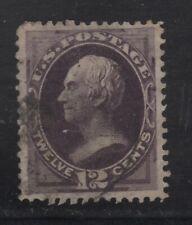 US #162 Sound, Used 12¢ Violet 1873 Clay, Light Cancel - CV = $135.00