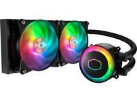 Cooler Master MasterLiquid ML240R Addressable RGB AIO CPU Liquid Cooler, 28 LEDs