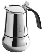 CAFFETTIERA x INDUZIONE BIALETTI ACCIAIO INOX KITTY NERA DA 6 TZ OTTIMO REGALO