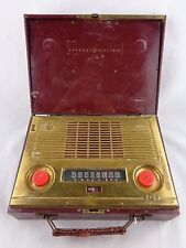 GE General Electric Model 145 Portable AC/Battery AM Tube Radio 1949 Vtg Retro