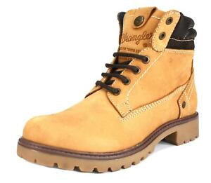 Wrangler Creek Nubuck Womens Leather Ankle Lace up Honey Boots Tan Brown