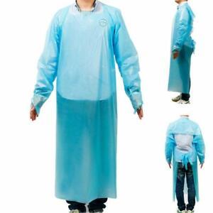 Zeguard 10pcs Disposable Plastic Gowns, Protective Isolation Aprons, Blue Protec