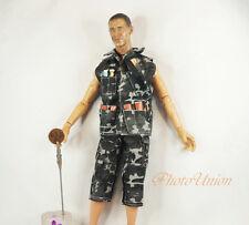 1:6 Scale Action Figure US Navy Camo Tactical Vest Jacket Shorts Uniform DA183_4