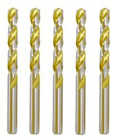 3 Pack Alfa Tools DTH66115 1//2-13 High-Speed Steel 135/° Split Point Bright Finish Combination Drill Tap