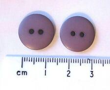 Paquete De 100 Botones De Plástico Redondo Gris Púrpura 15 mm 2 agujeros británico Mayorista JOBLOT