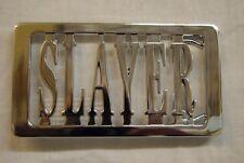 Slayer Plata Cortar Nombre Logo Hebilla de cinturón nuevo oficial REIGN en sangre Thrash