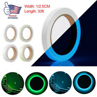 30ft Waterproof Luminous Tape Self-adhesive Glow In The Dark Safety Stage Decor