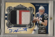 2011 National Treasures RYAN MALLETT Rc 3-Color Patch Auto /99