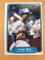 1982 Fleer Set Break #609 Jorge Bell RC/George Bell BLUE JAYS Mint Free Shipping
