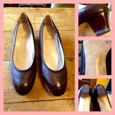 Vintage años 50 años 60 Marrón Cuero K Shoes Wing Tip Tribunal Zapatos UK 6 Mod GoGo