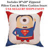 "18x18 18"" 18in MINION SUPERMAN Zipper Throw Pillow Case Cushion Disney Marvel DC"