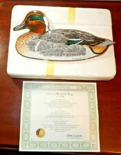 Franklin Mint Green-Winged Teal by A. J. Rudisill Collector's Plate with Coa