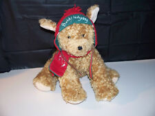 "Hallmark Buddy Holiday Puppy Dog Red Flap Hat & Scarf 9"" Plush Stuffed Animal"