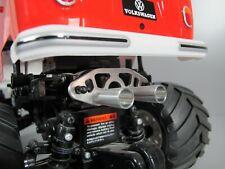 Aluminum Muffler Battery Stopper Cover Tamiya 1/10 R/C WR02 VW Bus Wild Willy