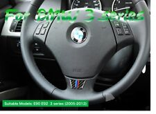 BMW B1 E90 E92 3 Series Interior Carbon Fibre Steering Wheel Stickers M Sport