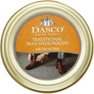 Dasco Traditional Wax Shoe Polish Boot Polish Medium Tan