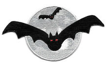 Bat - Vampire - Gothic - Halloween - Full Moon - Embroidered Iron On Patch