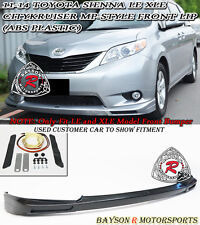 MP Style Front Lip (ABS) Fits 11-17 Toyota Sienna [Won't Fit SE Model]