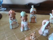 Homco Christmas Bears/Nativity Set