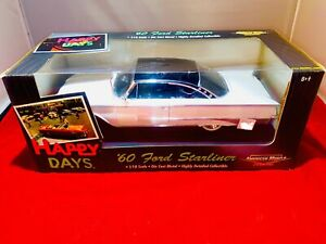 HAPPY DAYS American Muscle ERTL 60 Ford STARLINER Die Cast 1:18 Collectible