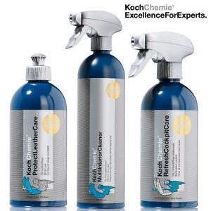 Koch Chemie Auto-Pflege-Set 3-tlg. Innenraumreiniger Lederpflege Cockpitpflege