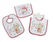 Nursery Time Baby Christmas X-Mas Bibs with PEVA Back Pack of 2 - 647