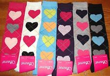 6 Pairs Ladies Girls HEARTS LINES Knee-High Socks Secret Thick Lot Size 9-11 #NY