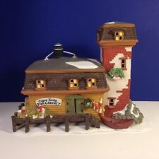 Dept 56 New England Village Cape Keag Fish Cannery w/ box Combine Ship!