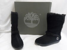 Timberland Women's Mukluk Pull-on Fur Black Suede Boots Black 6M TB061643 (8)