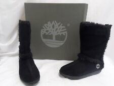 NEW Timberland Women's Mukluk Pullon Fur Black Suede Boots Black 6M TB061643 (8)
