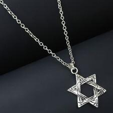 Retro Silver Chain Collar Choker Necklace Pentagram Pagan Satanic Star Pendants