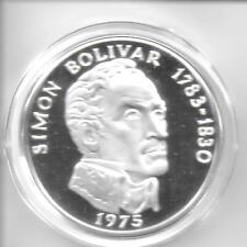 Panama 1975 20 Balboas Sterling Silver Coin KM-31 Choice Proof W/FM Box & COA