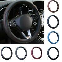 38cm 15inch Car Steering Wheel Cover Stitching PU Leather Universal