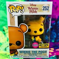 Flocked Winnie the Pooh Hot Topic Exclusive Funko POP! #252 *Mint w/ Protector*