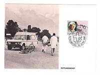 Liechtenstein FDC Ersttagsbrief Karte 1985 Rotes Kreuz Mi.Nr. 876