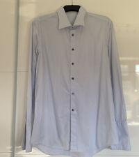 Emma Willis Jermyn Street London Men's Blue Check Formal Shirt Size Large