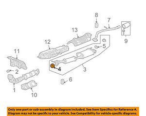 HONDA OEM 03-11 Element 2.4L-L4 Exhaust System-Muffler Gasket 18229S7S003