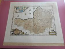 100% ORIGINAL LARGE SOMERSETSHIRE MAP BY SCHENK VALK C1715 VGC