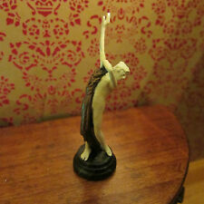 Doll House Miniature artisan made Art Deco style bronze figure ornament ~ 1:12